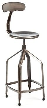 Delilah Bar Stool, Gunmetal - industrial - bar stools and counter stools - Industry West