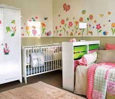 Shared Bedroom for Baby and Child Kid Design Ideas