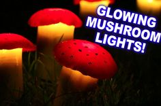 These Solar-Powered Mushroom Lawn Lights Are An Adorable Addition To Your Backyard