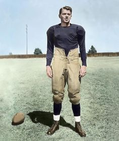 "Ronald Reagan as George Gipp (""The Gipper"") from the Warner Bros. film, ""Knute Rockne, All American"" 1940"