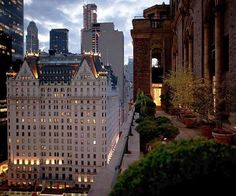 Terrace view of the Plaza Hotel NYC