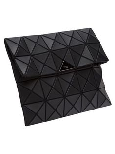 Geometric Fashion - clutch bag with flexible surface design using connecting matte triangles // Bao Bao Issey Miyake