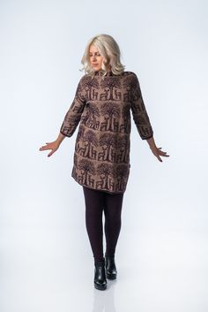 KAINO Knitted Deer Tunic Aw17, Knitwear, Deer, Tunic, Suits, Model, Cotton, Collection, Tops