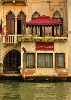Venezia, Italy. An amazing little hotel on the canal.