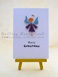 Quilled Christmas Card Quilling Angel - Quilling Wonderland