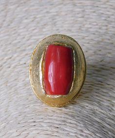 Δαχτυλίδι με Κόκκινη Χάντρα   Vaya Fashion Boutique Gemstone Rings, Gemstones, Jewelry, Jewlery, Gems, Jewerly, Schmuck, Jewels, Jewelery