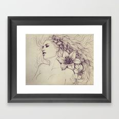 Lion's mane Framed #Art Print  Frame color choices and sizes available  https://society6.com/product/lions-mane_framed-print?curator=artistrybyrenosmom