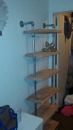 industrial shoe rack diy