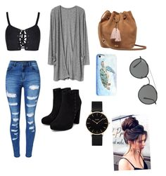 """Untitled #126"" by littlejlink on Polyvore featuring WithChic, UGG, Ray-Ban and CLUSE"