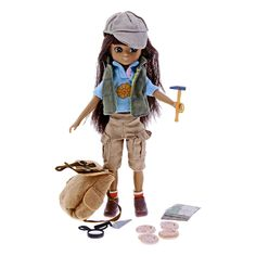 Fossil Hunter Lottie doll - A children's doll that comes with a positive role-model award. Lottie is a doll with an age-realistic body shape. The Fossil Hunter edition was developed in collaboration with TrowelBlazers, an organisation dedicated to highlight the achievements of women in archaeology, palaeontology and geology, two members of which are scientists at the Museum.