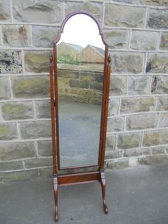 Walnut Cheval Mirror / Dressing Mirror c.1920 - | LoveAntiques.com