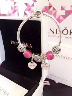 50% OFF!!! $179 Pandora Charm Bracelet Pink. Hot Sale!!! SKU: CB01848 - PANDORA Bracelet Ideas