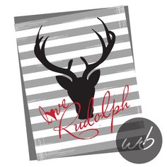 LOVE RUDOLPH Signature distressed  8x10 by WinkberryDesign on Etsy