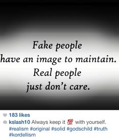 Keep it real....please!!!