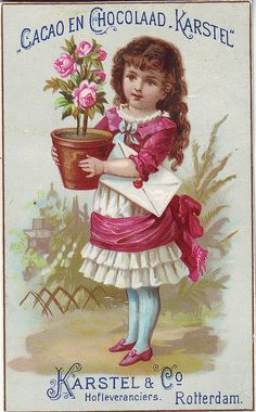 CACAO KARSTEL - GIRL WITH POT OF ROSES AND LETTER | Flickr - Photo Sharing!