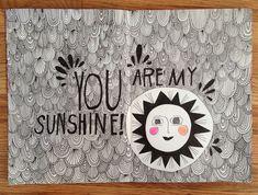 Lisa Congdon | You Are My Sunshine | #artist #art #sketchbook