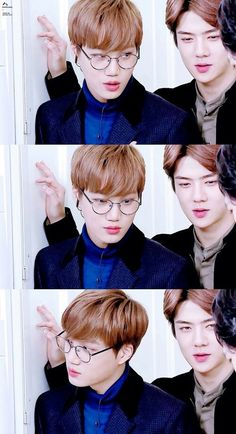EXO | Kai (with glasses), Sehun
