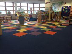 #Carpet Tile installation using Interface Heuga 727.