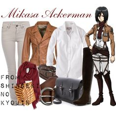 """[Shingeki no Kyojin] Mikasa Ackerman"" by animangacouture on Polyvore  www.otakucouture.com"