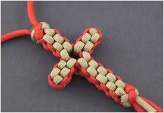 How to Make a Paracord Knotted Cross Necklace - The Beading Gem's Journal