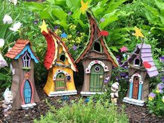 FAIRY HOUSE handmade and signed by former by SleepyHollowEnt.perfect for my fairy land container garden Fairy Garden Houses, Gnome Garden, Fairy Gardens, Garden Cottage, Fairy Village, Gnome House, House Yard, Fairy Doors, Miniature Houses