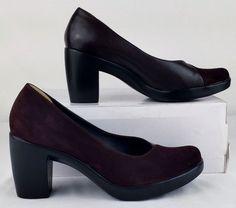 DANSKO Brown Suede Leather Heels Women 37.5 7 Medium Excellent Used  #Dansko #PumpsClassics