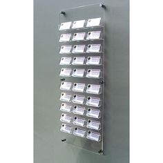 30 bay wall mount business card holder $50