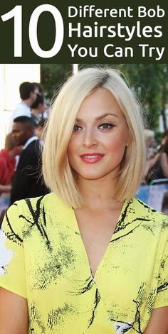 Check out these cool and popular different bob hairstyles that will help you make a fashion statement wherever you go.