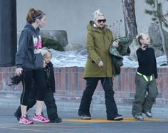 Gwen Stefani takes her boys Kingston and Zuma out skiing in Mammoth, California