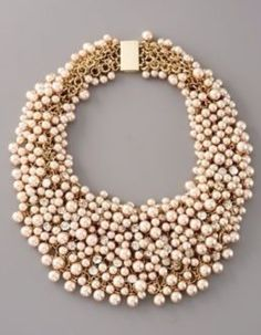 #pearl #statement #necklace