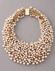 I love chunky pearls!