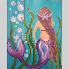 Mermaid Canvas, Mermaid Art, Mermaid Tails, Tattoo Mermaid, Mirror Painting, Diy Painting, Painted Gourds, Painted Rocks, Mermaid Drawings