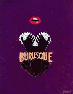 Burlesque (2010) - Minimal Movie Poster by Alejandro Cisneros #minimalmovieposters #alternativemovieposters #alejandrocisneros
