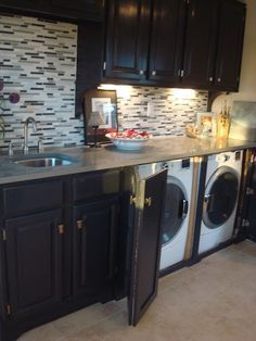 small kitchen hidden washer and dryer google search - Small Washer And Dryer