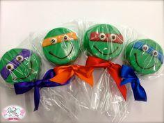 Edible Birthday Favors Teenage Mutant Ninja Turtle by FrosttheCake, $30.00