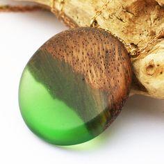 Resin & Wood Necklace Wood Jewelry Resin by JayaMayaJewellery