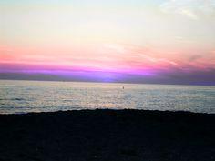 Sunset on Venice Beach, Florida.