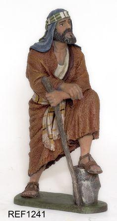 Creaciones Artísticas DAIMON: Hebreas de 12 CMS. Christmas Nativity Set, Christmas Carol, Nativity Sets, Nativity Characters, Miniature Crafts, Clay Figures, Religious Art, Christmas Inspiration, Mosaic Art
