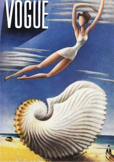 Vogue Magazine cover by Miguel Covarrubias / July 1937