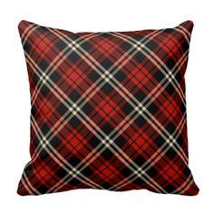 Black & Red Tartan | Throw Pillow