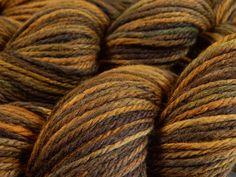 Hand Dyed Yarn  Aran Weight Superwash MCN by BlackSheepDyeworks