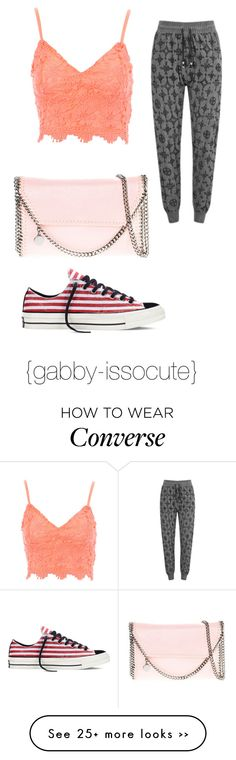 """""""Untitled #188"""" by gabby-issocute on Polyvore featuring Jane Norman, STELLA McCARTNEY, Converse and Religion Clothing"""