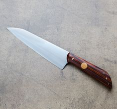 Full-Tang Cocobolo Personal Chef Knife handmade by Don Carlos Andrade.