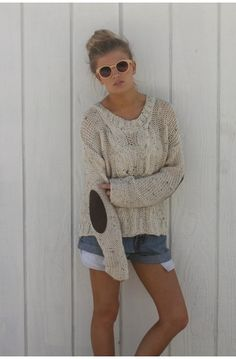 Slouchy Sweater + Shorts