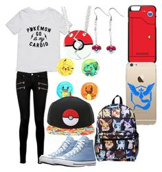 """""""Pokémon Go ! outfit your adventures"""" by twilightzone-eh on Polyvore featuring Paige Denim, Loungefly and Valor"""