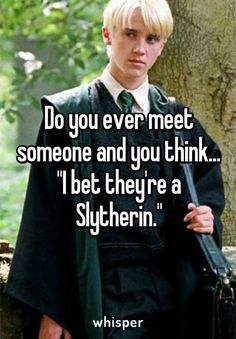 That's judgemental!! Many people see me as a Hufflepuff because I am my dorm hall's mom. Most people think I'm a Ravenclaw when they first meet me because I'm smart, studious and really interested in learning all sorts of things. It's only when someone really knows me well do they realize that I'm a Slytherin. So stop being so judgemental and put your stupid house prejudices aside.