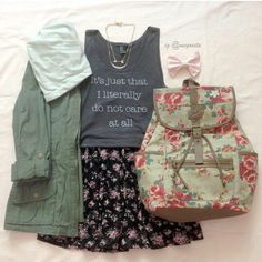 This would be a cute school outfit