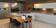 Cucina laccato opaco e legno piallato vintage