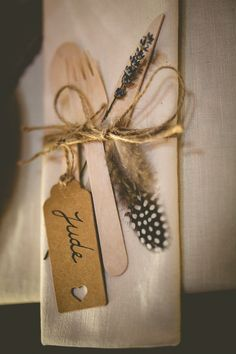 Eco Wooden Cutlery Rustic Bohemian DIY Barn Wedding http://lovethatsmilephotography.com/