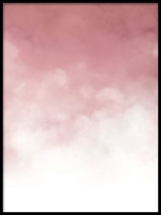 A modern art poster of pink gradient clouds. A nice and trendy design that will look great with our typography prints or graphic motifs. For an eye-catching style, match this art print with some of our black and white posters, on a gallery wall or in a collage. Desenio.co.uk